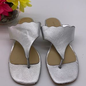 Mark Fisher Silver Thong Sandals - Sz 7.5